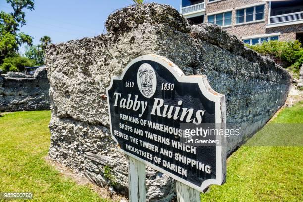 Georgia Darien Waterfront Park tabby ruins sign