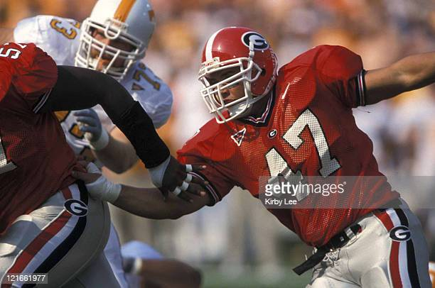 Georgia defensive lineman Dave Pollack during 1813 victory over Tennessee at Sanford Stadium on October 12 2002