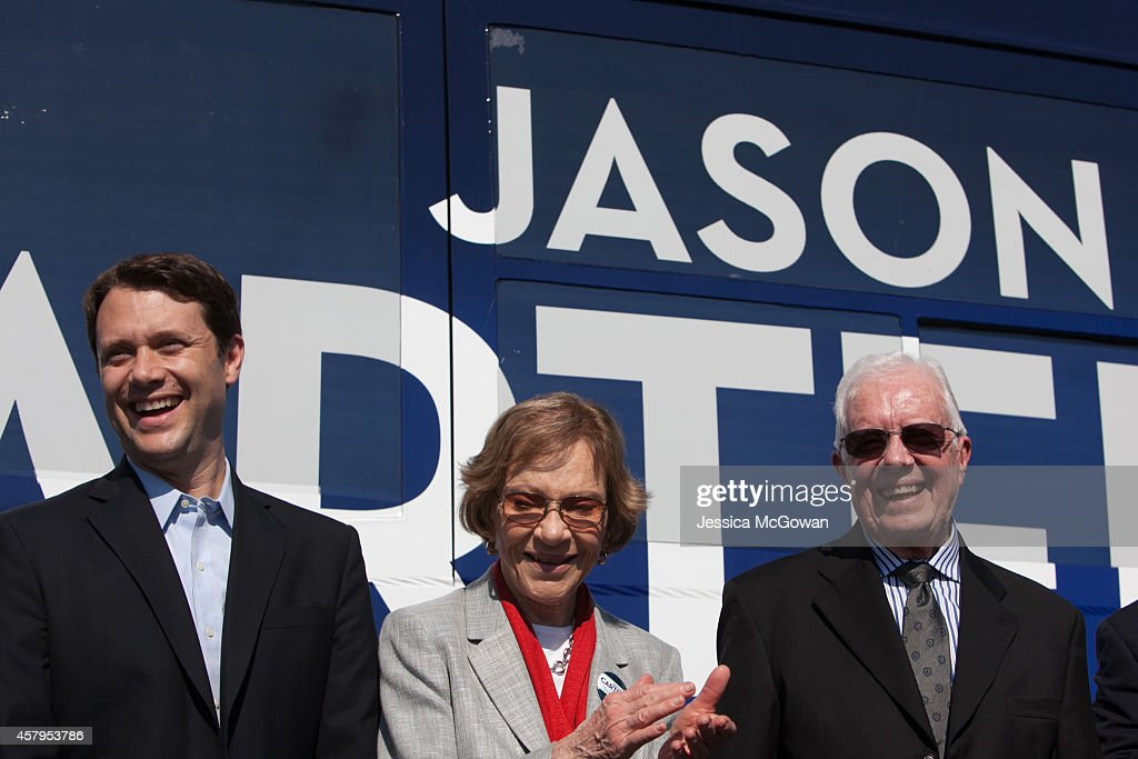 Jimmy And Rosalynn Carter Campaign With Jason Carter In Columbus : News Photo