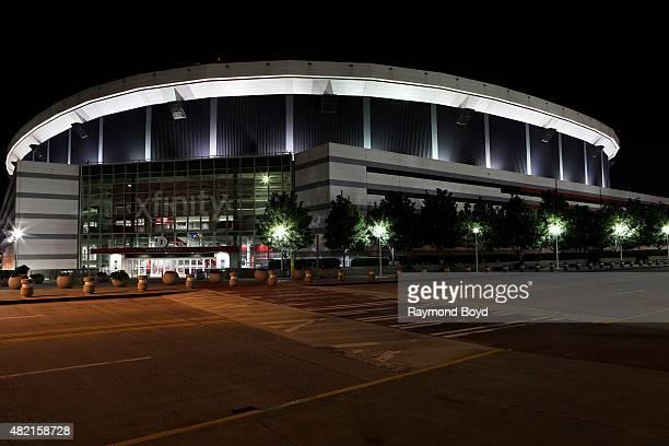 Georgia Dome, home of the Atlanta Falcons football team and Georgia State Panthers football team on July 17, 2015 in Atlanta, Georgia.