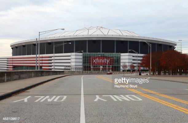 Georgia Dome, home of the Atlanta Falcons football team in Atlanta, Georgia on NOVEMBER 23, 2013.