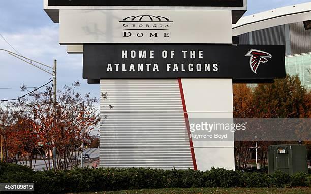 Georgia Dome home of the Atlanta Falcons football team in Atlanta Georgia on NOVEMBER 23 2013
