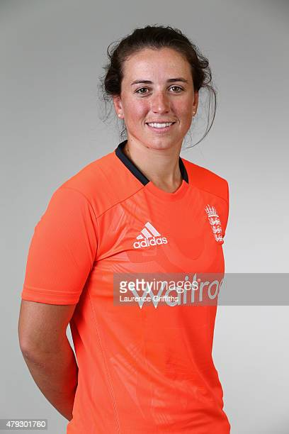 Georgia Elwiss of England poses for a portrait at the National Cricket Performance Centre on July 1 2015 in Loughborough England