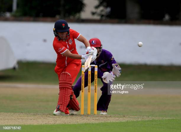 Georgia Elwiss of Loughborough Lightning bats during the Kia Super League game on July 22 2018 in Southport England