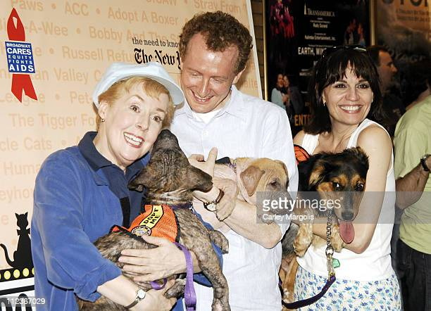 Georgia Engel Beth Leavel and Bob Martin during Broadway Barks 8 at Shubert Alley in New York City New York United States