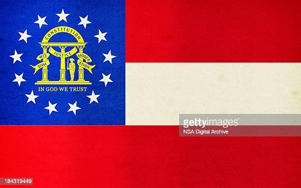 Georgia Flag Close-Up (High Resolution Image)