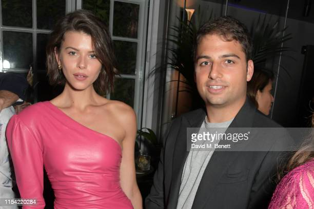 Georgia Flower and Jamie Reuben attend Dundas Travelling Flagship on June 06 2019 in London England