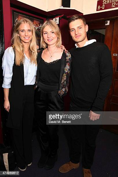Georgia Forbes Amber Wyles and Adam Parker attend the press night performance of 'An Evening With Lucian Freud' at the Leicester Square Theatre on...