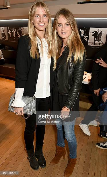 Georgia Forbes and Cressida Bonas attend the 'Dior by Avedon' Book Launch at Collette on October 2 2015 in Paris France