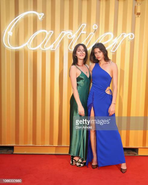 Georgia Fowler and Kate Fowler attend the Cartier Precious Garage Party on November 29 2018 in Sydney Australia