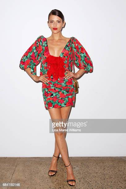 Georgia Fowler arrives ahead of the Ellery X Etihad Airways event at MercedesBenz Fashion Week Resort 18 Collections at The Elston Room Carriageworks...