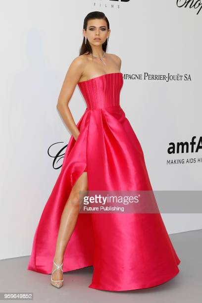 Georgia Fowler arrives at the amfAR 25th Annual Cinema Against AIDS gala at the Hotel du CapEdenRoc in Cap d'Antibes France during the 71st Cannes...
