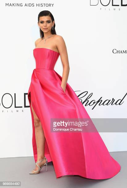 Georgia Fowler arrives at the amfAR Gala Cannes 2018 at Hotel du CapEdenRoc on May 17 2018 in Cap d'Antibes France