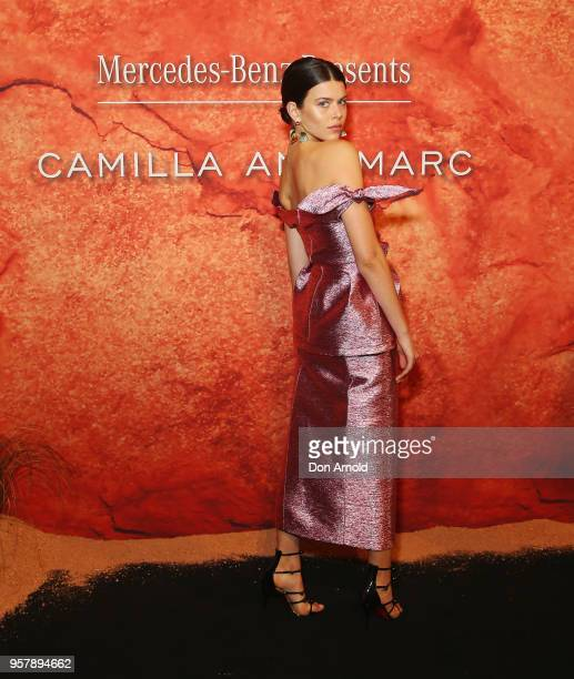 Georgia Fowler arrives for the MercedesBenz Presents Camilla And Marc show at MercedesBenz Fashion Week Resort 19 Collections at the Royal Hall of...