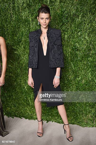 Georgia Fowler attends 13th Annual CFDA/Vogue Fashion Fund Awards at Spring Studios on November 7 2016 in New York City