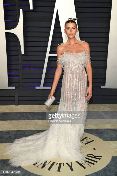 Georgia Fowler attends 2019 Vanity Fair Oscar Party Hosted By Radhika Jones at Wallis Annenberg Center for the Performing Arts on February 24 2019 in...