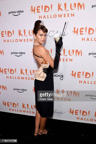 Georgia Fowler attends Heidi Klum's 20th Annual Halloween Party presented by Amazon Prime Video and SVEDKA Vodka at Cathédrale New York on October 31...