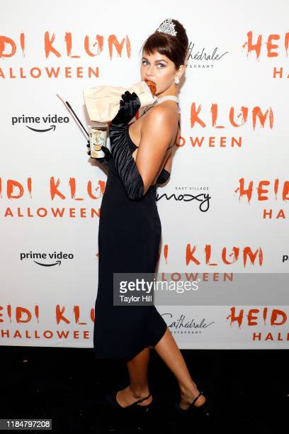 Georgia Fowler attends Heidi Klum's Annual Hallowe'en Party at Cathédrale on October 31, 2019 in New York City.