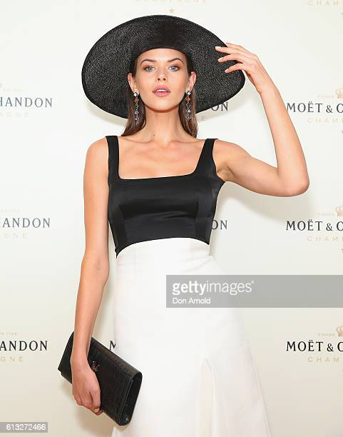 Georgia Fowler attends Spring Champion Stakes Day at Royal Randwick Racecourse on October 8 2016 in Sydney Australia