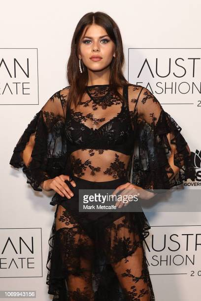 Georgia Fowler attends the 2018 Australian Fashion Laureate Awards on November 20 2018 in Sydney Australia