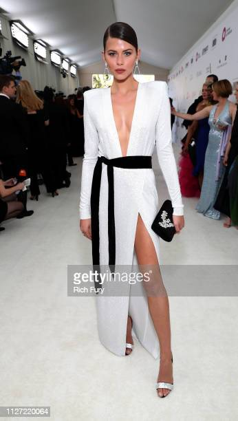 Georgia Fowler attends the 27th annual Elton John AIDS Foundation Academy Awards Viewing Party sponsored by IMDb and Neuro Drinks celebrating EJAF...