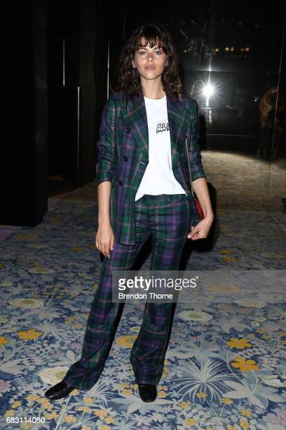 Georgia Fowler attends the Alice McCall show at MercedesBenz Fashion Week Resort 18 Collections at Carriageworks on May 15 2017 in Sydney Australia