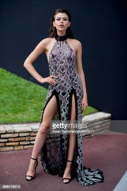 Georgia Fowler attends the amfAR Gala Cannes 2017 at Hotel du CapEdenRoc on May 25 2017 in Cap d'Antibes France