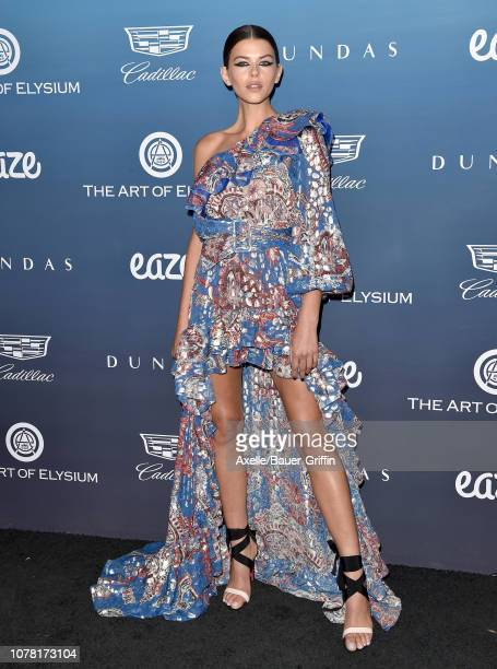 Georgia Fowler attends The Art of Elysium's 12th Annual Celebration Heaven on January 5 2019 in Los Angeles California