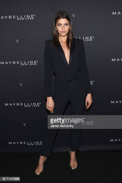Georgia Fowler attends the Maybelline New York x V Magazine Party at the Nomo Soho Hotel on February 11 2018 in New York City