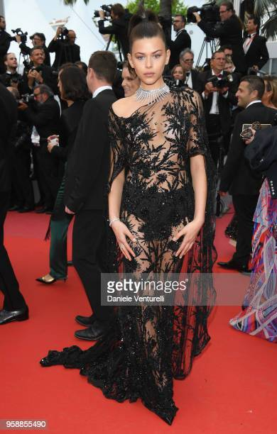 Georgia Fowler attends the screening of 'Solo A Star Wars Story' during the 71st annual Cannes Film Festival at Palais des Festivals on May 15 2018...