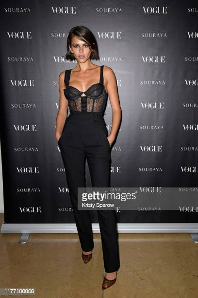 Georgia Fowler attends the Souraya x Vogue Arabia Dinner Runway Show Paris Fashion Week Event on September 25 2019 in Paris France