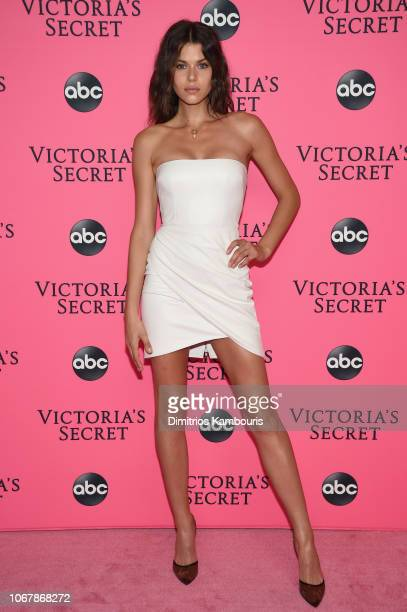 Georgia Fowler attends the Victoria's Secret Viewing Party ar Spring Studios on December 2 2018 in New York City