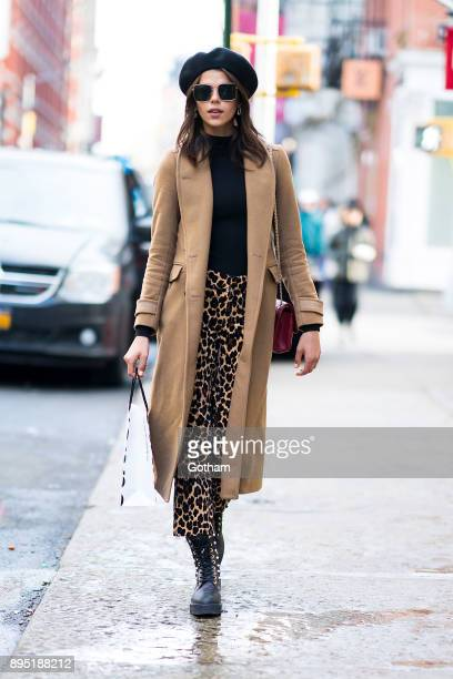 Georgia Fowler is seen in SoHo on December 18 2017 in New York City