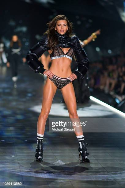 Georgia Fowler walks the runway during the 2018 Victoria's Secret Fashion Show at Pier 94 on November 8 2018 in New York City