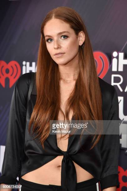 Georgia Geminder arrives at the 2018 iHeartRadio Music Awards which broadcasted live on TBS TNT and truTV at The Forum on March 11 2018 in Inglewood...