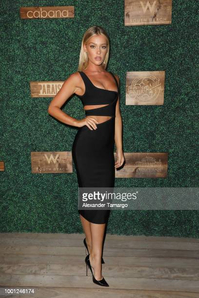 Georgia Gibbs attends the 2018 Sports Illustrated Swimsuit show at PARAISO during Miami Swim Week at The W Hotel South Beach on July 15 2018 in Miami...