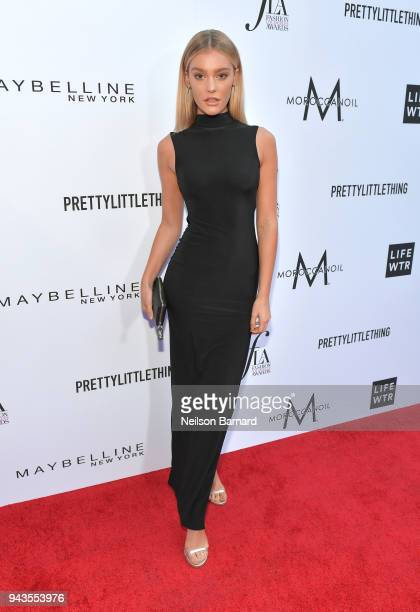 Georgia Gibbs attends The Daily Front Row's 4th Annual Fashion Los Angeles Awards at Beverly Hills Hotel on April 8 2018 in Beverly Hills California