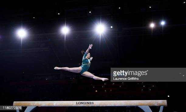 Georgia Godwin of Australia competes on Beam during the Women's AllAround Final on Day 7 of FIG Artistic Gymnastics World Championships on October 10...