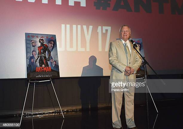 Georgia Governor Nathan Deal speaks onstage at 'AntMan' Atlanta Cast And Crew Screening at Regal Atlantic Station 18 on July 12 2015 in Atlanta...