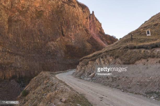 Georgia, Greater Caucasus, Truso Gorge, dirt road