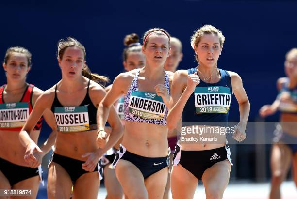 Georgia Griffith competes in the heats of the Women's 800m event during the Australian Athletics Championships Nomination Trials at Carrara Stadium...