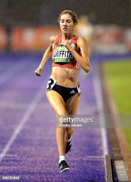 Georgia Griffith competes in the Women's 1500m event during the Summer of Athletics Grand Prix at QSAC on March 22 2018 in Brisbane Australia