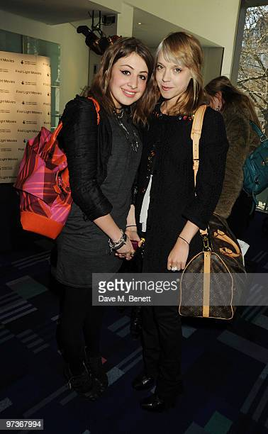 Georgia Groome and Antonia CampbellHughes attend the First Light Movie Awards at Odeon Leicester Square on March 2 2010 in London England