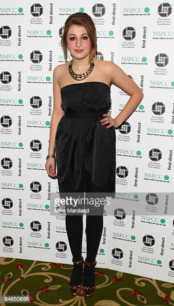 Georgia Groome arrives at The 29th Annual London Critics' Circle Film Awards at Grosvenor House Hotel on February 4 2009 in London England