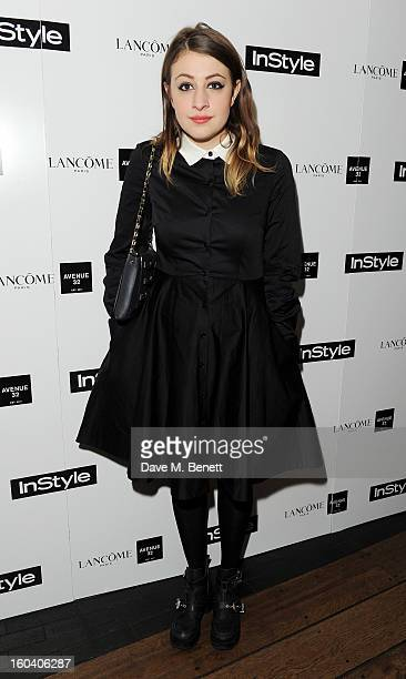 Georgia Groome arrives at the InStyle Best Of British Talent party in association with Lancome and Avenue 32 at Shoreditch House on January 30 2013...