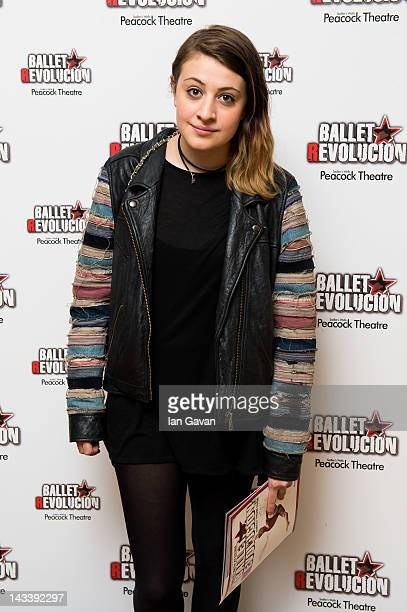 Georgia Groome attends the opening night of 'Ballet Revolucion' at the Peacock Theatre on April 25 2012 in London England