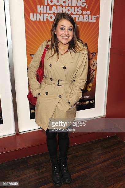 Georgia Groome attends the VIP screening of Fantastic Mr Fox at Odeon West End on October 18 2009 in London England