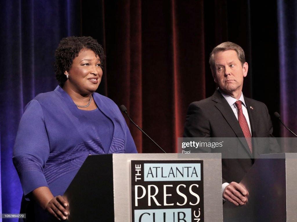 Georgia gubernatorial candidates (L-R) Clash in First Debate : News Photo
