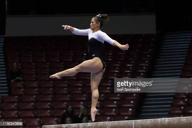 Georgia gymnast Mikayla Magee during the Elevate the Stage Meet on March 8 2019 at Legacy Arena in Birmingham Alabama