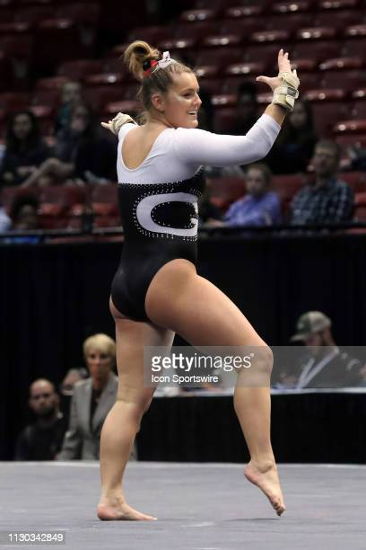 Georgia gymnast Rachael Lukacs during the Elevate the Stage Meet on March 8 2019 at Legacy Arena in Birmingham Alabama